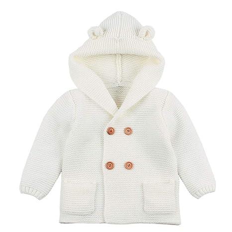 Abrigos Bebé, Dragon868 Ropa de Invierno Encantadora Orejas de bebé con Capucha de Punto Tapas para niños: Amazon.es: Ropa y accesorios
