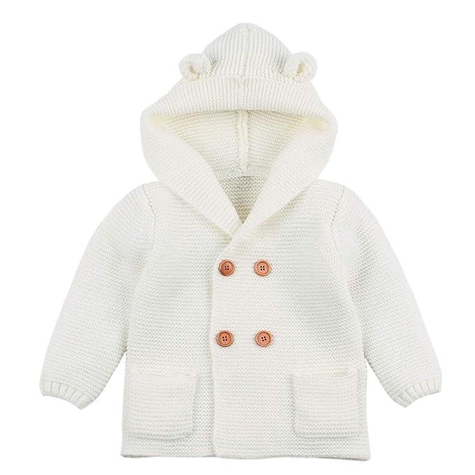 Abrigos Bebé, Dragon868 Ropa de Invierno Encantadora Orejas de bebé con Capucha de Punto Tapas