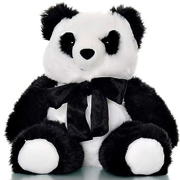 Amazon Com Giant Stuffed Panda Bear 4 Lb Weighted Stuffed Animal