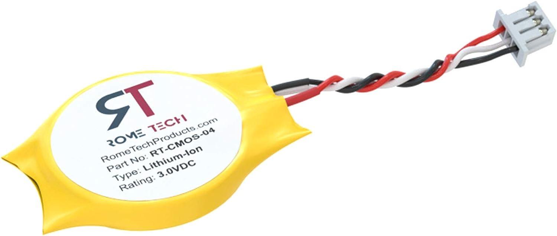 CMOS Battery for DELL Latitude E6400 E6410 E6500 E6510 E5410 E5400 - RTC GC02000KH00 BIOS CMOS Battery CR2032 with 3 Pin Wire Cable