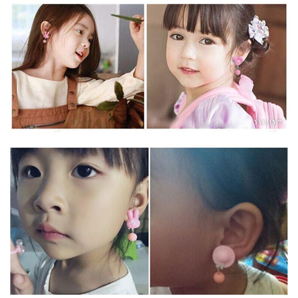 clip senza fori Girl party favor Birthday Gift pretend Play Princess gioielli orecchini a clip Value Parure orecchini a clip