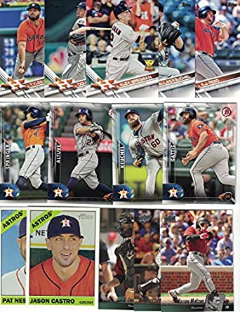 Houston Astros 50 Different Astros Baseball Cards From