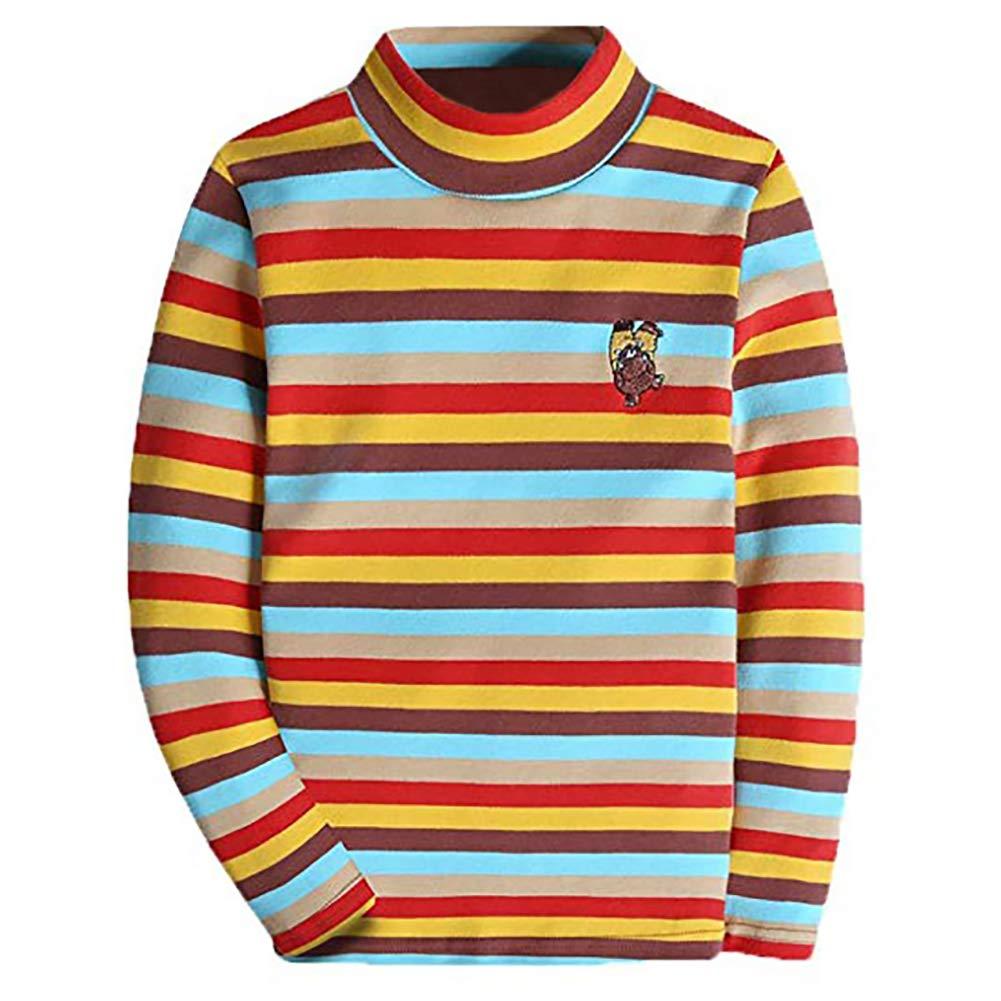 BASADINA Girls Sweatshirts Christmas Turtleneck Jumpers Long Sleeve Tops Cotton Knitwear Sweater Boys Girls Winter Warm Clothes