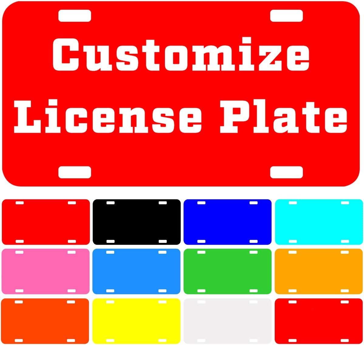 Custom Car Tag Custom License Plate Medieval Cobalt Depths Personalized License Plate Helmet