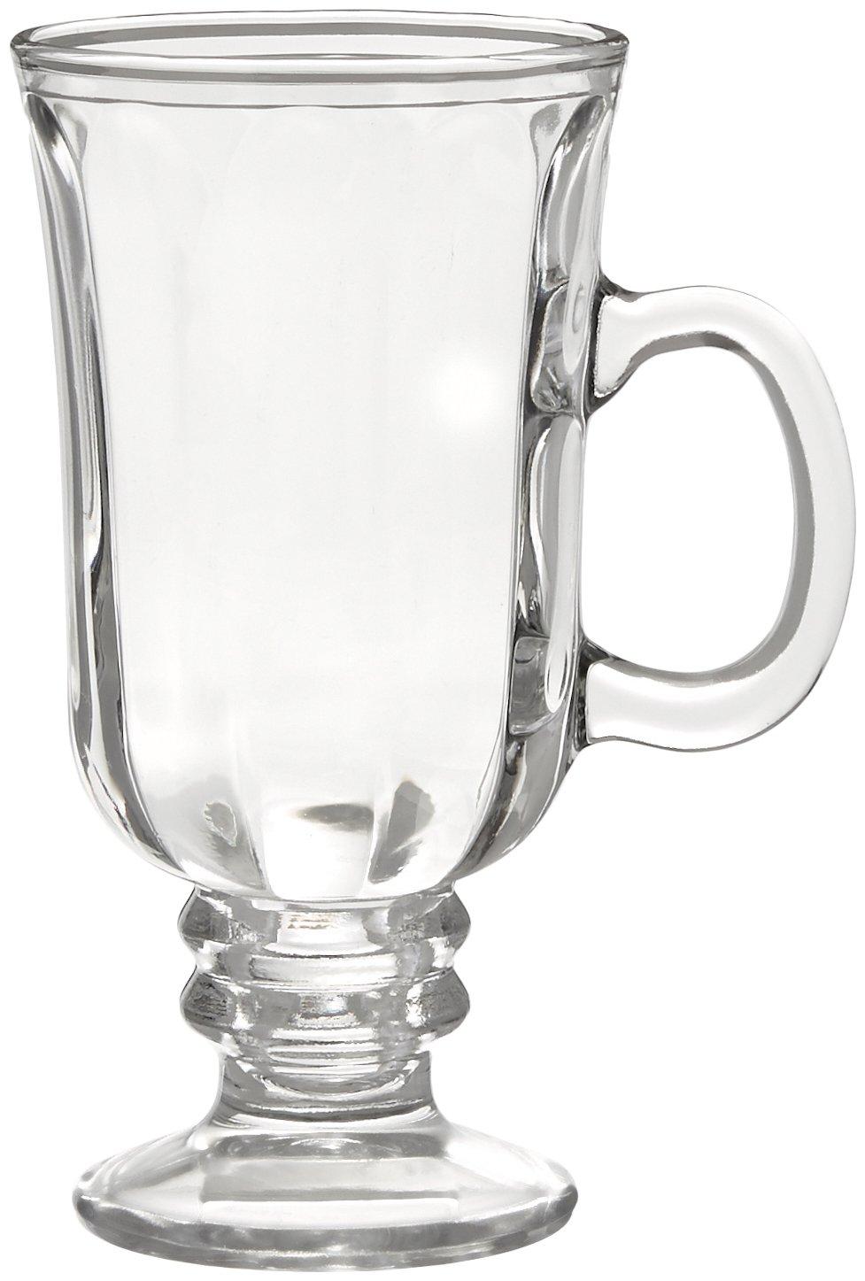 Style Setter Optic Irish Coffee Mugs (Set of 4), Clear
