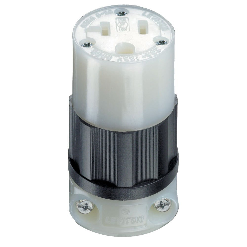 613z4DDLy9L._SL1000_ leviton 5369 c 20 amp, 125 volt, connector, industrial grade NEMA 1-15 at n-0.co