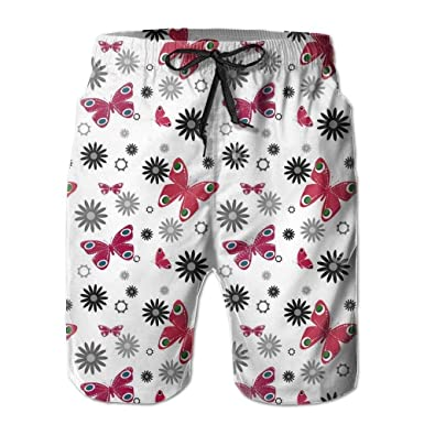 HEAGRWGRE Mariposa sin Costuras Sueltas Pantalones de Playa para ...