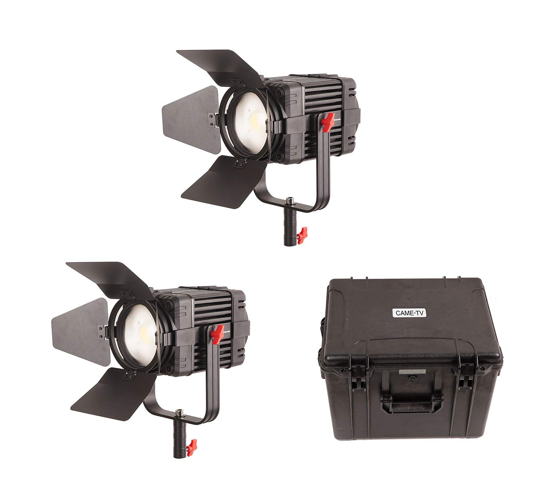 CAME-TV、LED撮影用ズームミングスポットライト100W バイカラー2セット、バック付(バッテリー別)、B-100S−2KITシリーズ   B07RK27F3S