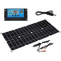 Lixada Solar Panel,70W Solar Panel 5V/18V Dual USB Output Ports Monocrystalline Silicon Solar Panel with 10A Solar Charge Controller