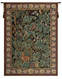 Home Furnishings, Aristoloche I, Belgian Tapestry Wall Hanging, Wall Art Decor, 48 by 72 Inch