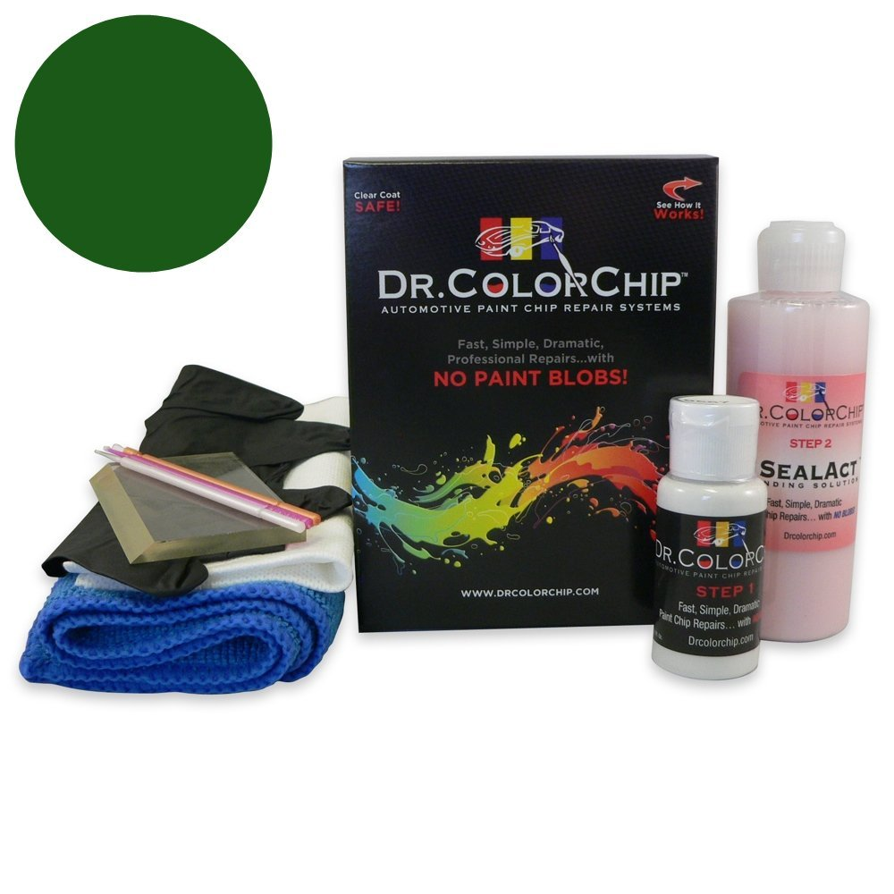 Dr. ColorChip Ford F-Series Automobile Paint - Green Gem Metallic 2 W6 - Squirt-n-Squeegee Kit