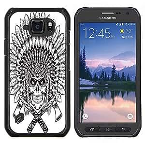 Dragon Case - FOR Samsung Galaxy S6 active/G870A/G890A (Not Fit S6) - Idle folks have most labour - Caja protectora de pl??stico duro de la cubierta Dise?¡Ào Slim Fit