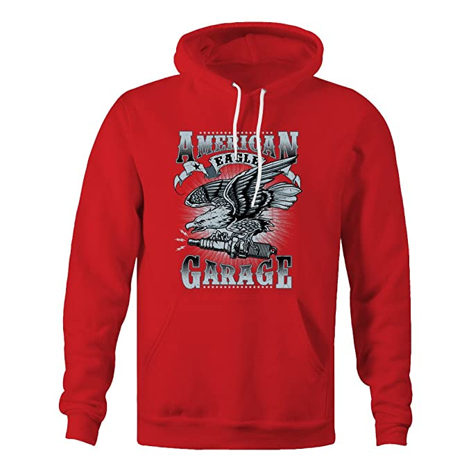 American Eagle Garage Ladies Hoodie - Red - XX-Large: Amazon.es: Ropa y accesorios