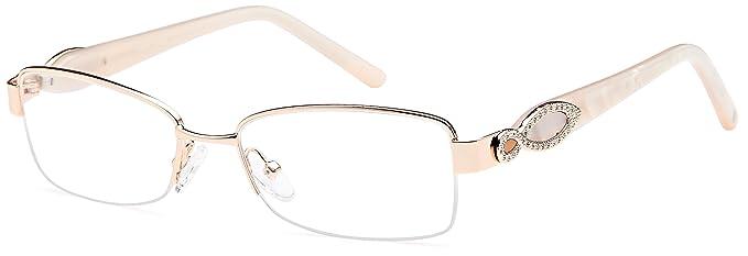 c701c80aa1 Amazon.com  DALIX Womens Super Star Semi-rimless Rx-able Eye Glasses ...