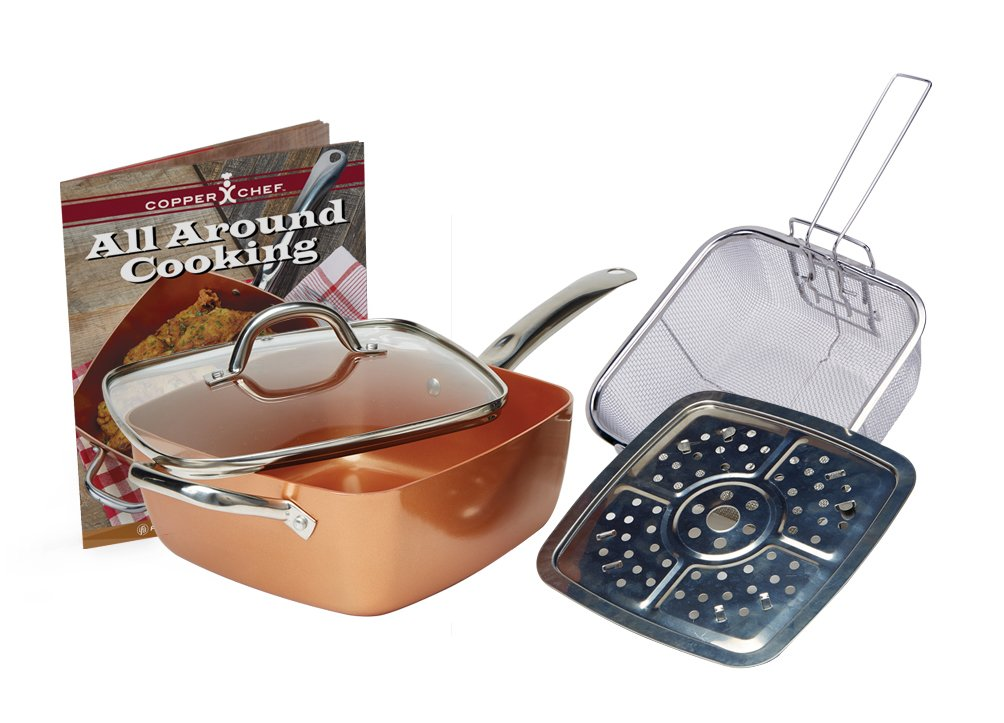 Tristar Products Copper Chef Square Pan 5 Piece Set With