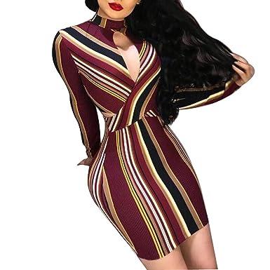 Slyar Vestido De Fiesta Mujer Cortos Sexy Falda Plisada Cruzada ...