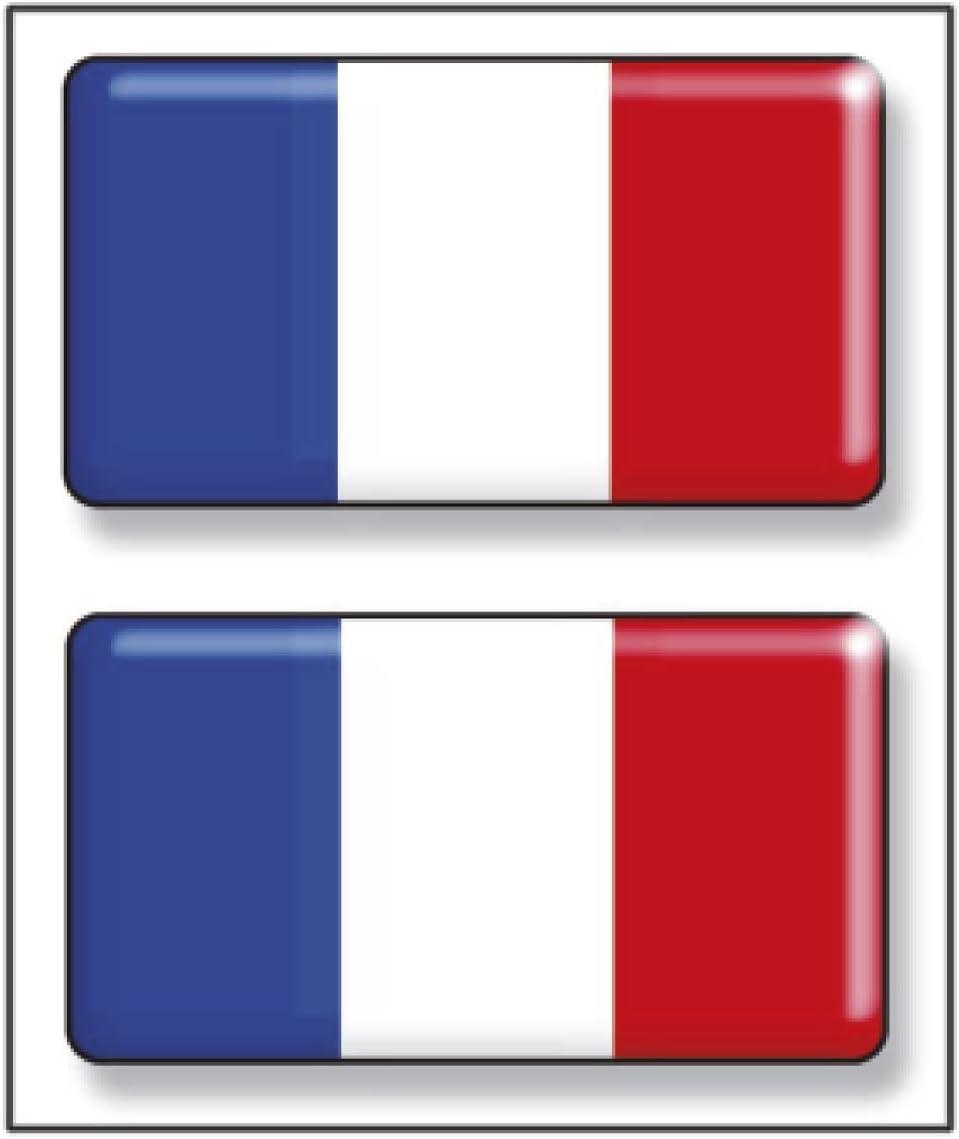 Resina 48x26 mm//ud. Artimagen Pegatina Bandera rect/ángulo Francia 2 uds