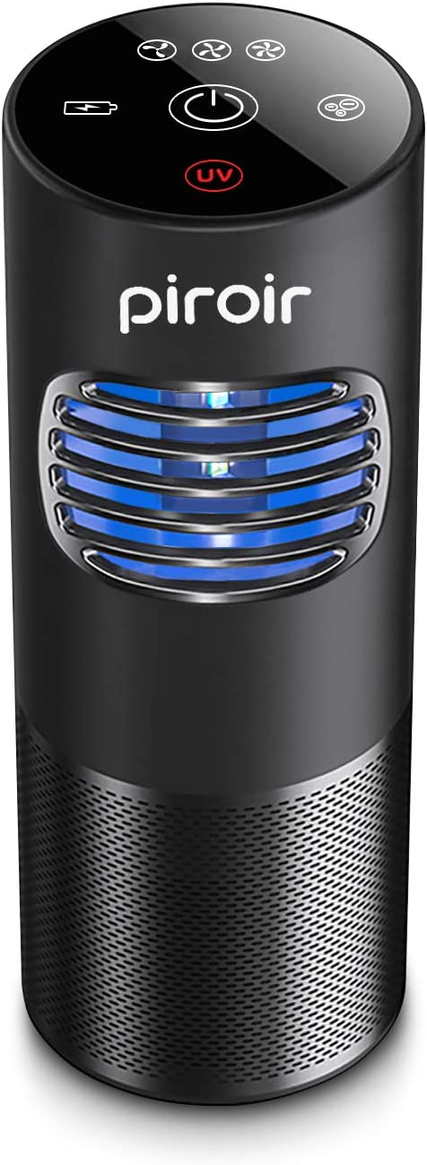 Piroir HEPA Air Purifier Smoke Car Purifiers for Home Pets Hair-H13 True HEPA Filter for Small Bedroom 4-Stage Filtration -100% Ozone Free, Eliminates Smoke, Dust, Pollen, Pet Dander