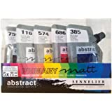 Sennelier Abstract Acrylic Pouches, Primary Matt Color Set of 5-60 ml Pouches (10-121850)