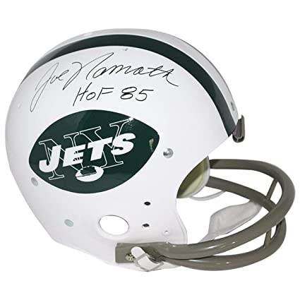 2b6a16714cf Image Unavailable. Image not available for. Color  Joe Namath Autographed  Signed New York Jets 65-77 Riddell Tk Throwback Full Size Replica