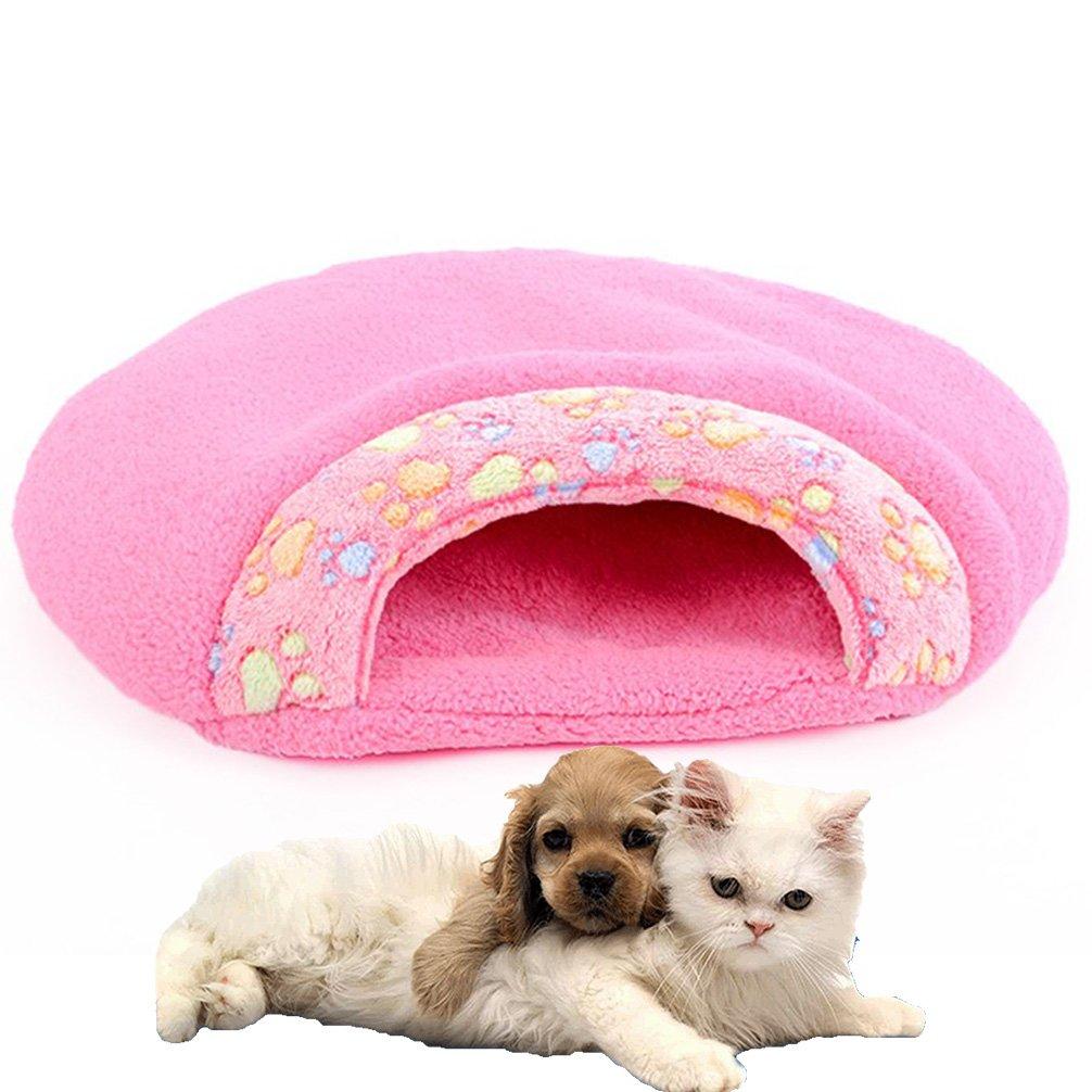 LA VIE Multifunzione Letto Cani Gatti Sacco a Pelo Coperta Caldo Confortevole Casa Cuscino Morbido Nido per Gatto Gatti Cani Cane Piccolo S in Marrone