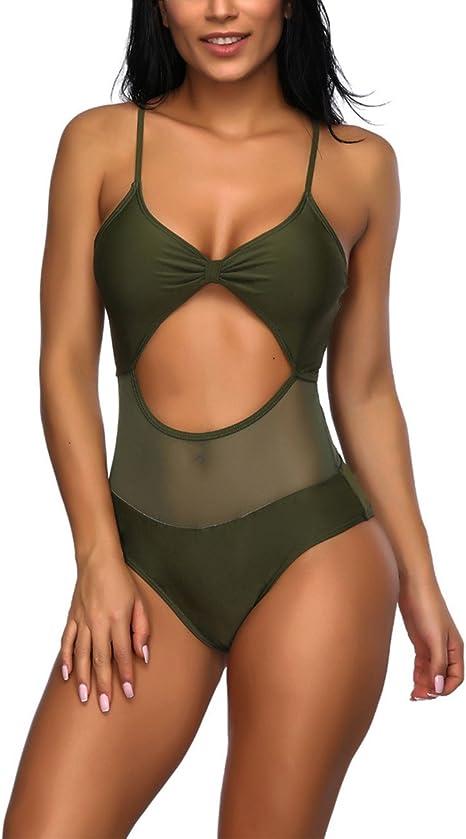 Amazon.com: Lover-Beauty traje de baño sexy de una pieza ...