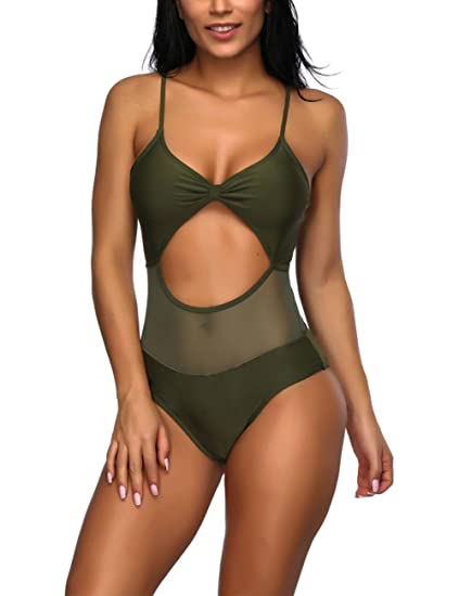 a4877e7812 Lover-Beauty Women's Sexy One Piece Swimsuit Beach Swimwear Bathing Suit  Tummy Control Bikini Set