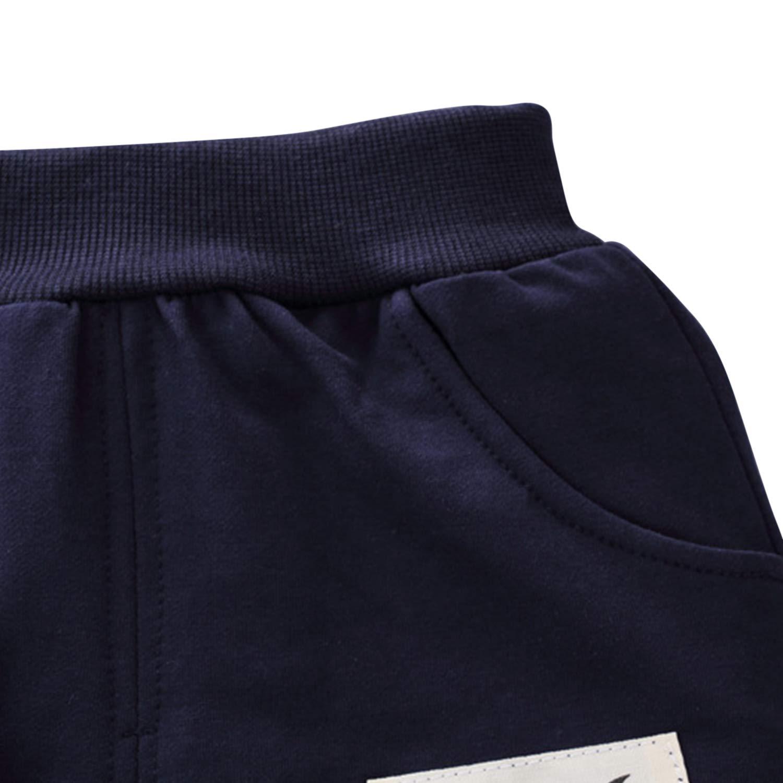 De feuilles Lot de 3 Gilet /& T-shirt /& Pantalon Ensembles B/éb/é Gar/çon Manches Longues Motif Imprim/é Pour Enfant 6 mois /à 36 mois