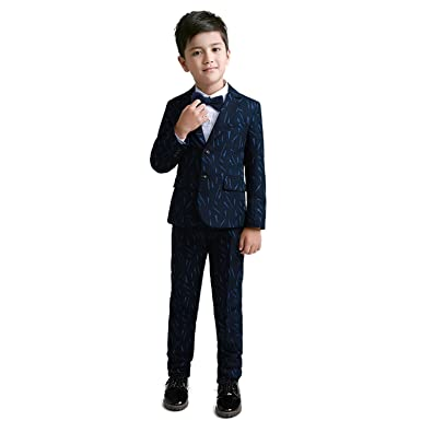 5e73e91bff8e Amazon.com  Yuanlu 5 Piece Kids Tuxedo Formal Boys Suits Set For ...