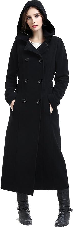 BGSD Womens Mariel Wool Blend Hooded Long Coat Regular Plus /& Short
