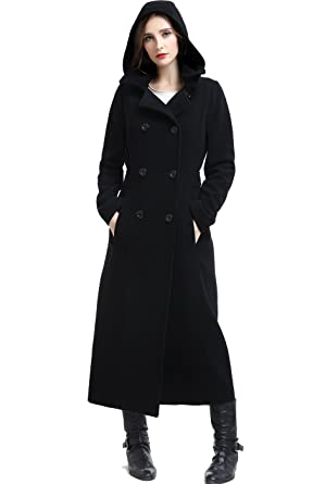 36497af16 Amazon.com: BGSD Women's Mariel Wool Blend Hooded Long Coat (Regular ...