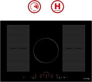 "30"" Induction Cooktop, GASLAND Chef IH77BFH 220V Built-in Electric Induction Cooker, 5 Burner 30 Inch Electric Induction Stove Top, Flex Zone, Power Boost, Safety Lock"
