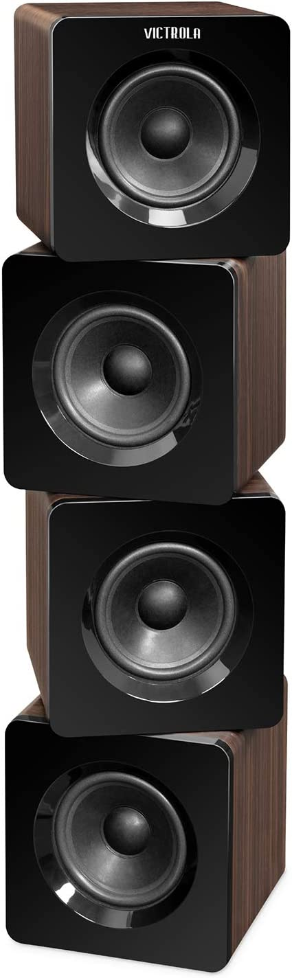 """Victrola 32"""" Rotating Bluetooth Tower Stereo with 40 Watt Sound"""
