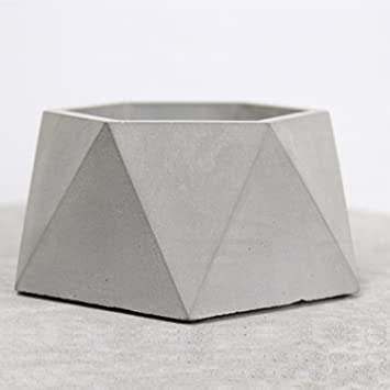 Beton übertopf pomcat modern handgefertigt simplicity dodekaeder designs