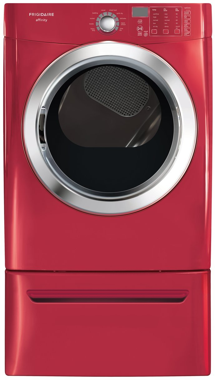 amazoncom affinity 70 cu ft electric dryer with ready steam in red appliances
