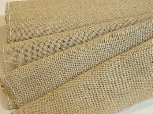 1 Metre Light Hessian Fabric 105cm Wide - Weddings - Crafts - Upholstery - Frost Protection