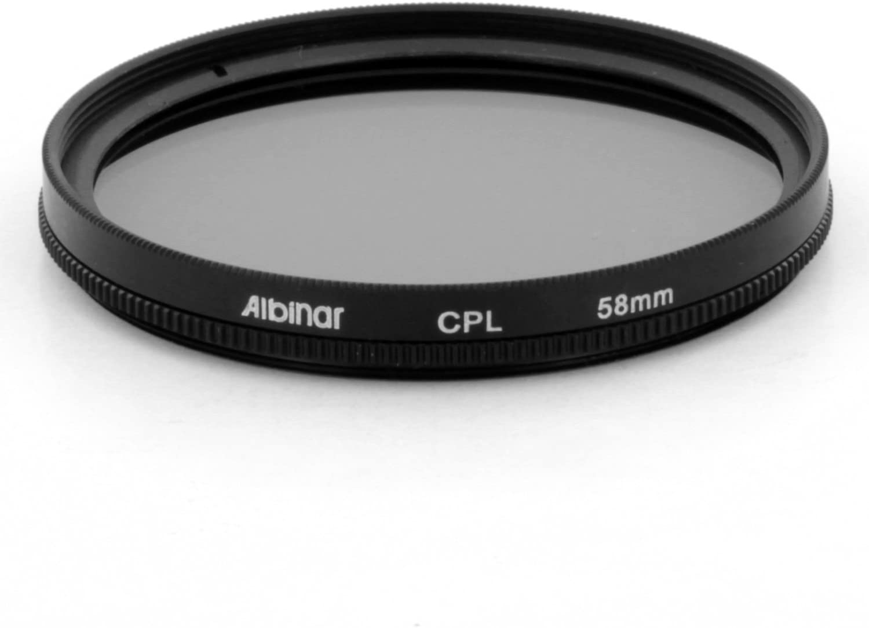 Albinar 58mm CPL Circular Polarizer C-PL Filter Black