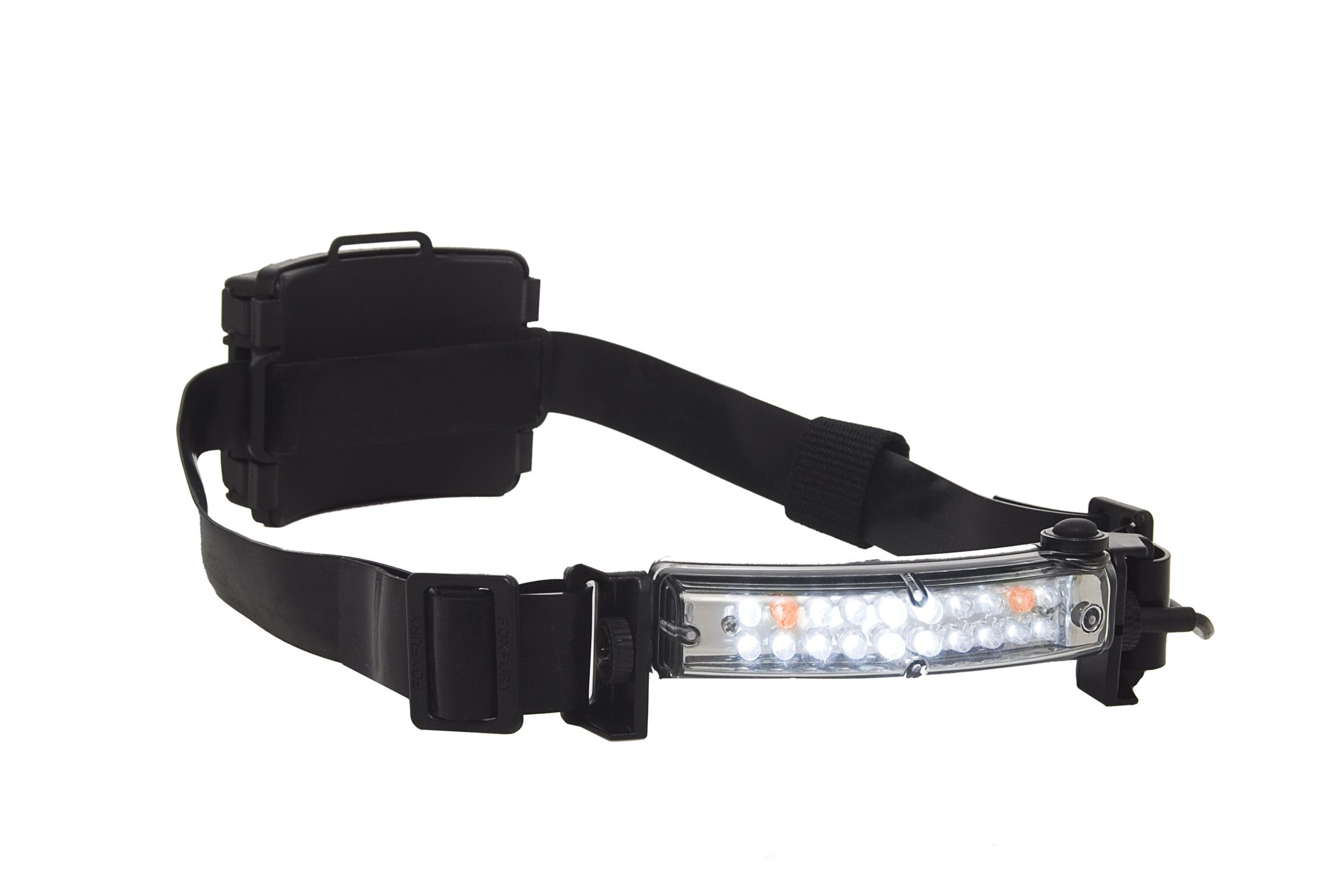 FoxFury 420-015 Command 20 Wildland Fire LED Firefighter Helmet Light with 1'' Silicone Strap, 70 Lumens