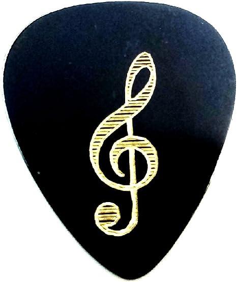 Púa Guitarra Metal Brass Vintage Diseño Clave de Sol -: Amazon.es ...