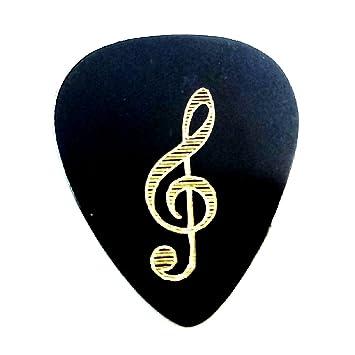 Púa Guitarra Metal Brass Vintage Diseño Clave De Sol Amazones