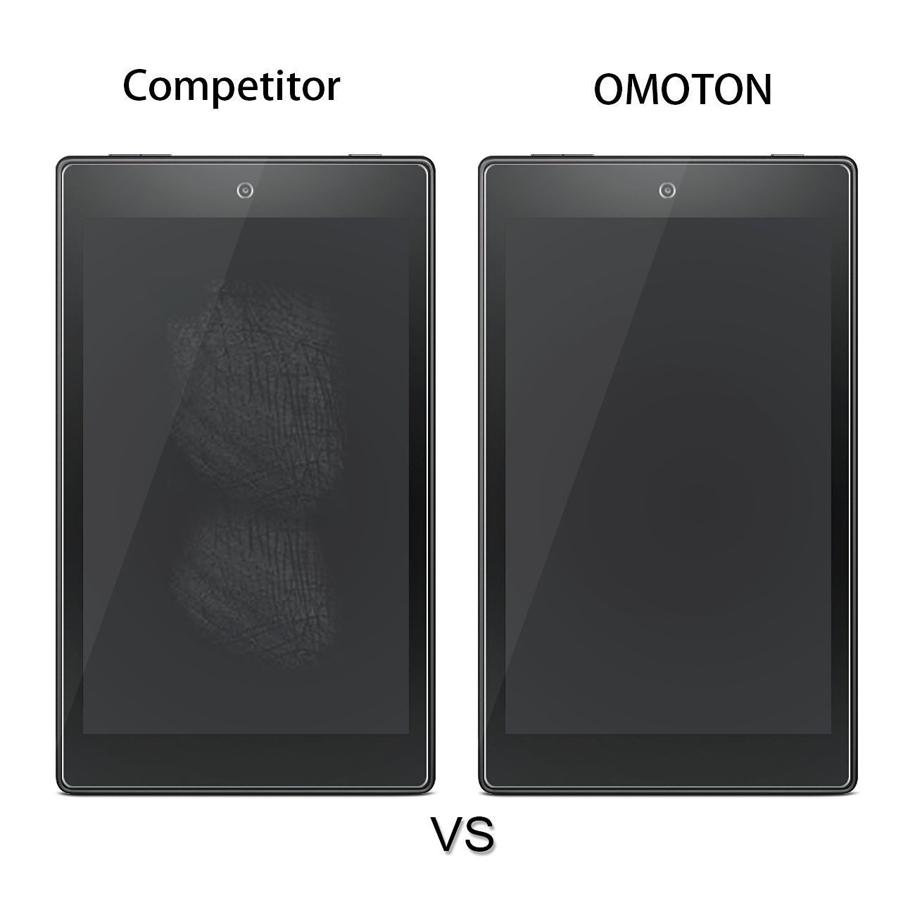 [2-Pack] All-New Fire 7 Screen Protector (2017 Release) - OMOTON Tempered Glass Screen Protector for All-New Fire 7 Tablet with Alexa (2017 Release) by OMOTON (Image #7)