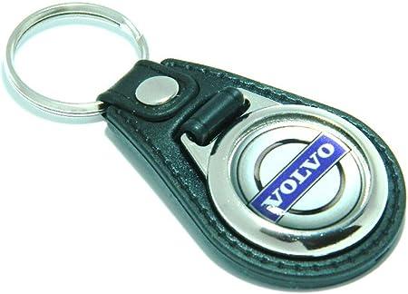 Portachiavi in pelle sintetica, con stemma Volvo: Amazon.it: Auto