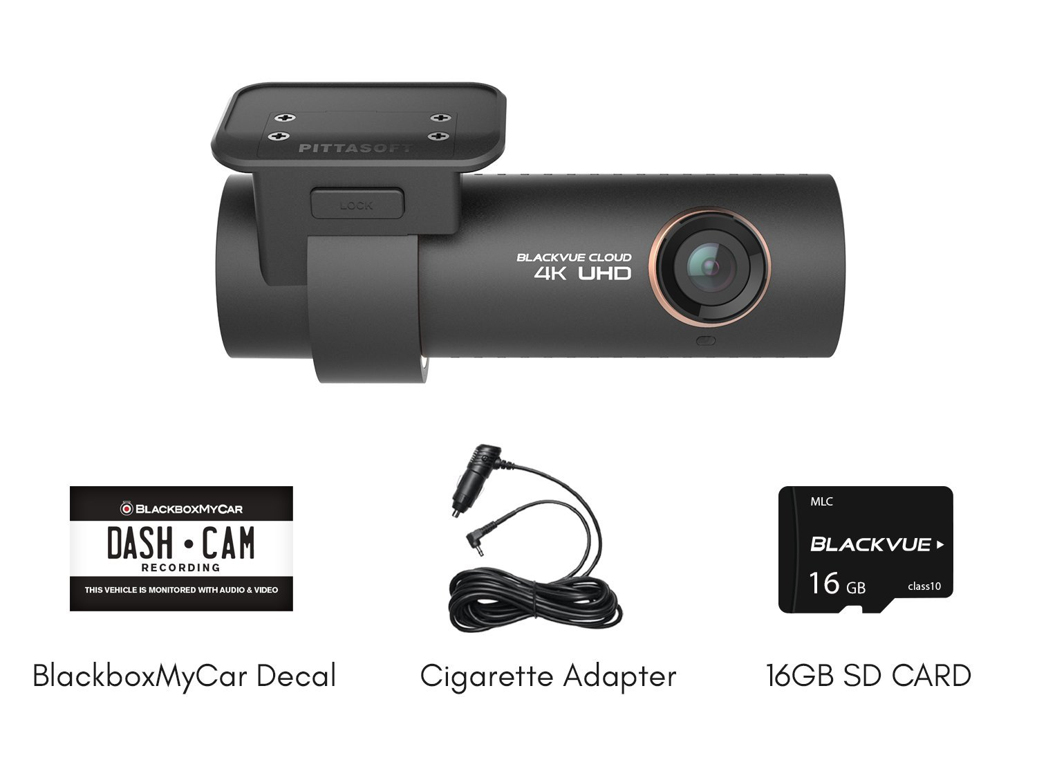 Blackvue DR900S-1CH | 4K Dashcam | 1-Channel | 16GB SD Card