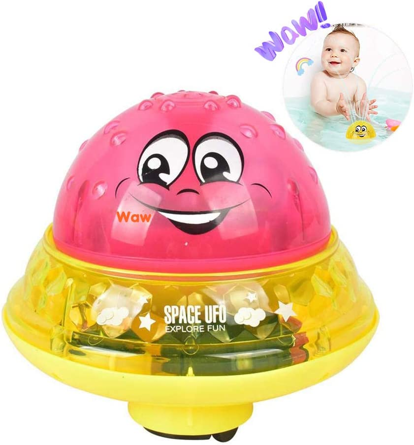 UK The Automatic Induction Bathly Water Spray Toy Baby Bath Fun Ball Gifts