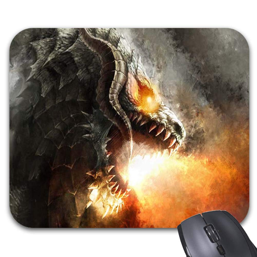 Amazon.com : Fire Breathing Dragon Mouse Pads - Stylish Office  Accessories(9 X 7.5 inch) : Office Products