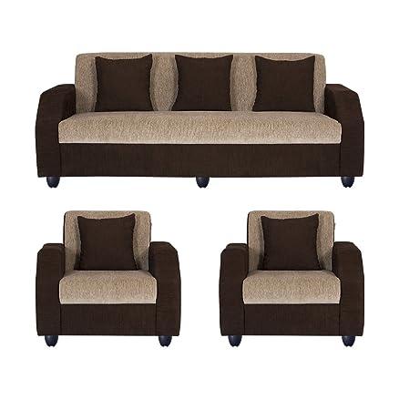 Bharat Lifestyle Italia Five Seater Sofa Set 311 Brown Amazon