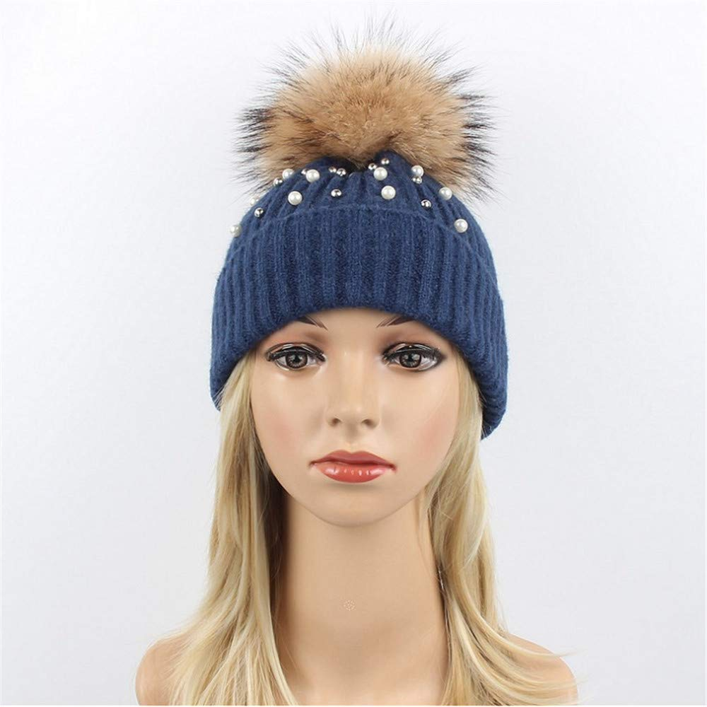 Hat Lady Knit Warm Fashion Libre,Azul Lentejuelas Gorra Al Aire Libre,Azul Fashion 21ab7d