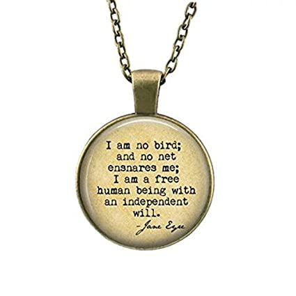 Amazon Com Rose Jane Eyre Book Necklace Jane Eyre Quote