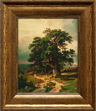Amazon Com Upperpin Oak By Ivan Shishkin Giclee Print Framed Painting On High Quality Canvas For Wall Decoration Gold Frame Size 14 X 17 Ready To Hang Posters Prints