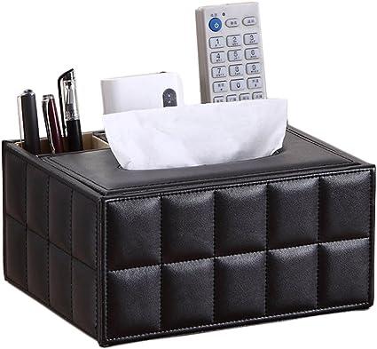 iSuperb Organizador de Tejidos TV Control Remote de Caja para Mandos 1 pieza 4 Compartimentos Desk Organizer (Negro): Amazon.es: Oficina y papelería